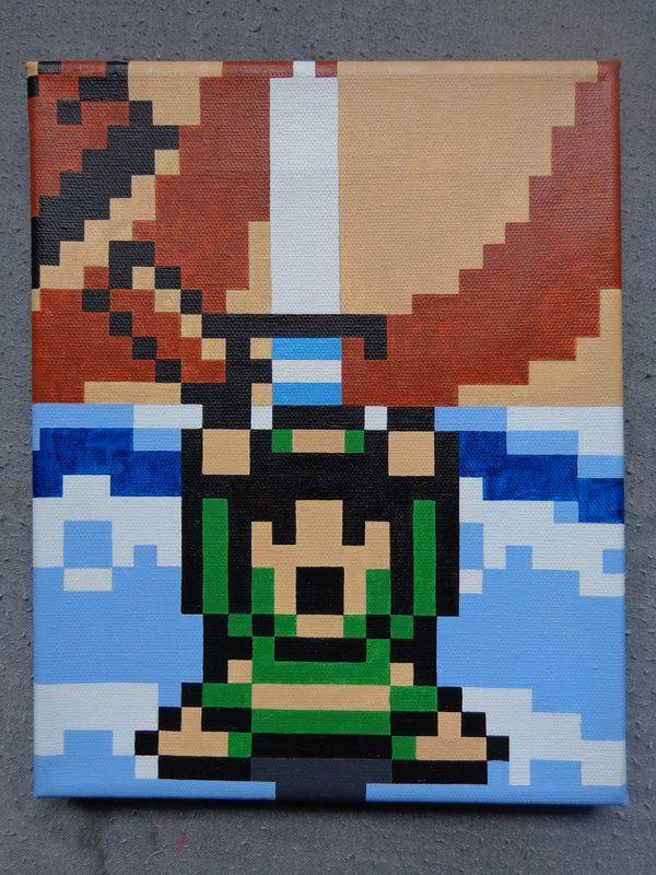 Link S Awakening Pixel Art 8 Bit Scene Painting By