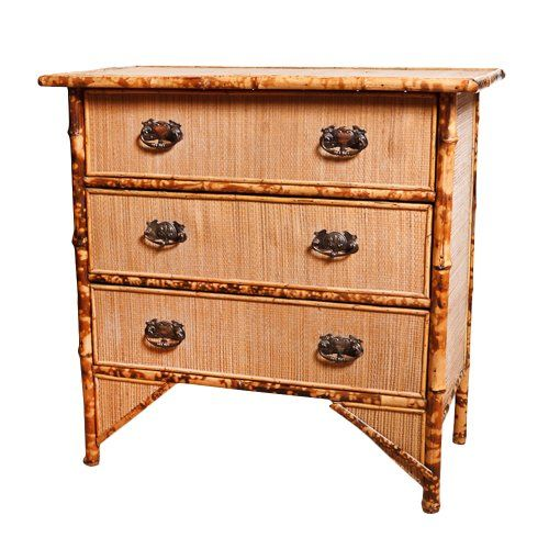English Antique Bamboo Chest