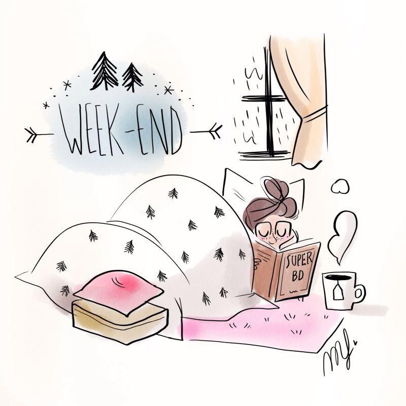 Magalie illustration - Weekend