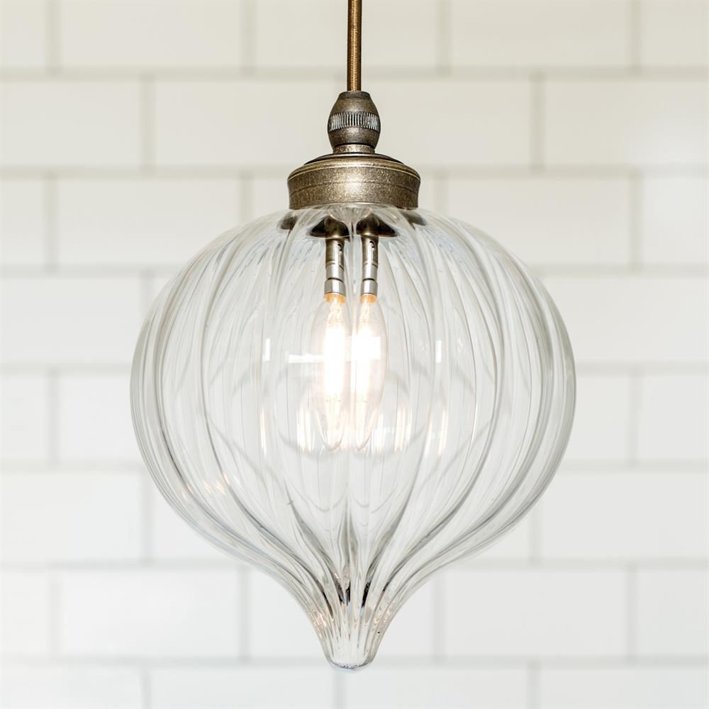 Ava Bathroom Pendant Light | Fluted Glass | Period | Contemporary ...