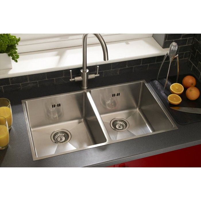 Square Double Bowl Stainless Steel Sink Undermount & Inset
