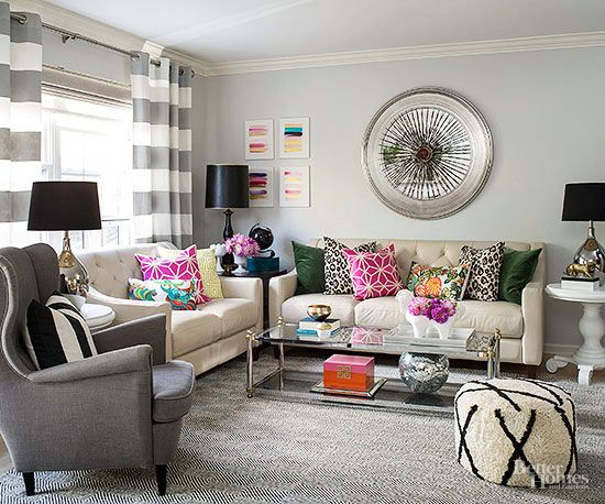 This Diy Home Mixes Patterns Like A Pro Home Living Room Living Room Color Home Decor