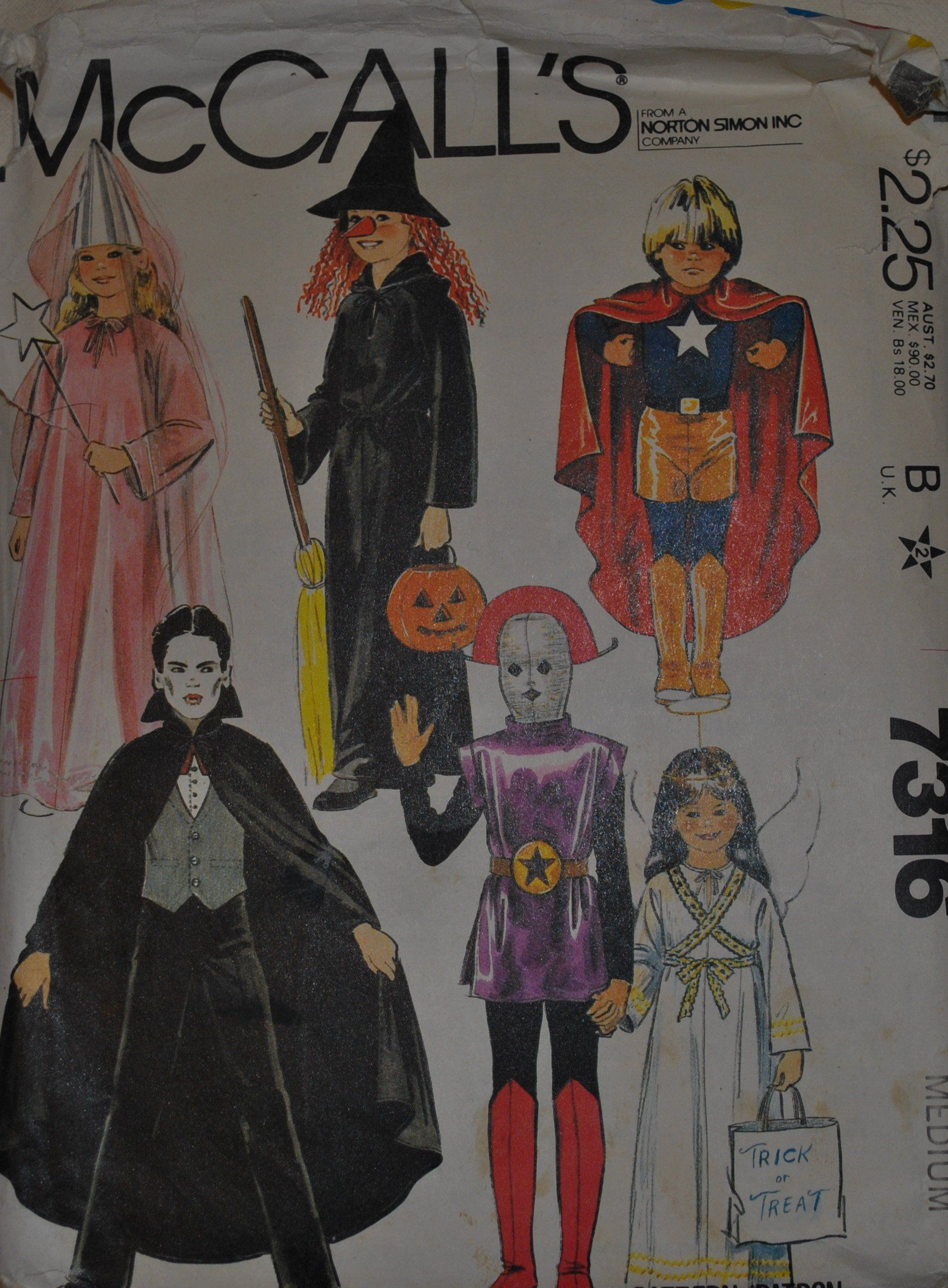 UNCUT Size Medium 68 Vintage 1980s McCalls 7316 Sewing