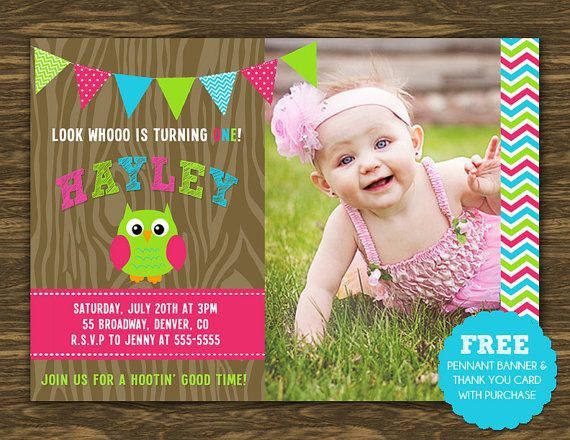 Girl Owl Birthday Invitation Printable Free By Sweetgumdrop 15 00