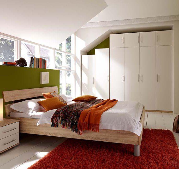 Bett Unter Dachschräge Komfort Schlafzimmer Ideen Mit: Varia Von Priess - Schlafzimmer Sonoma-Eiche Weiß