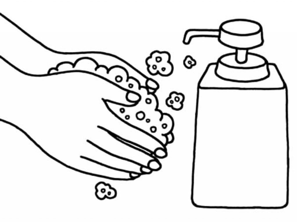 Washing Hands Coloring Pages | Coloring pages, Coloring ...