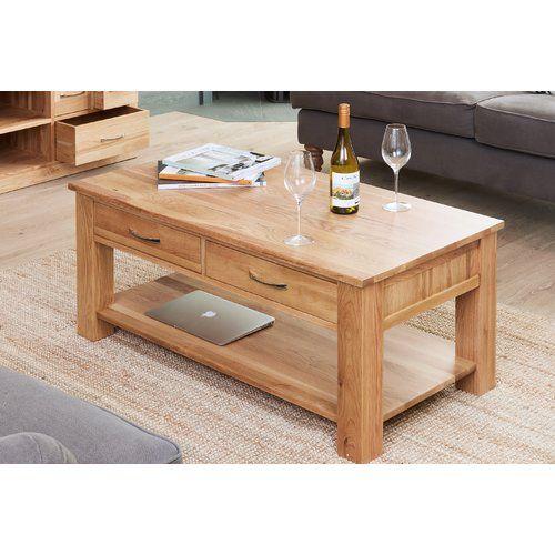 Marlow Home Co Oscar Coffee Table With Magazine Rack