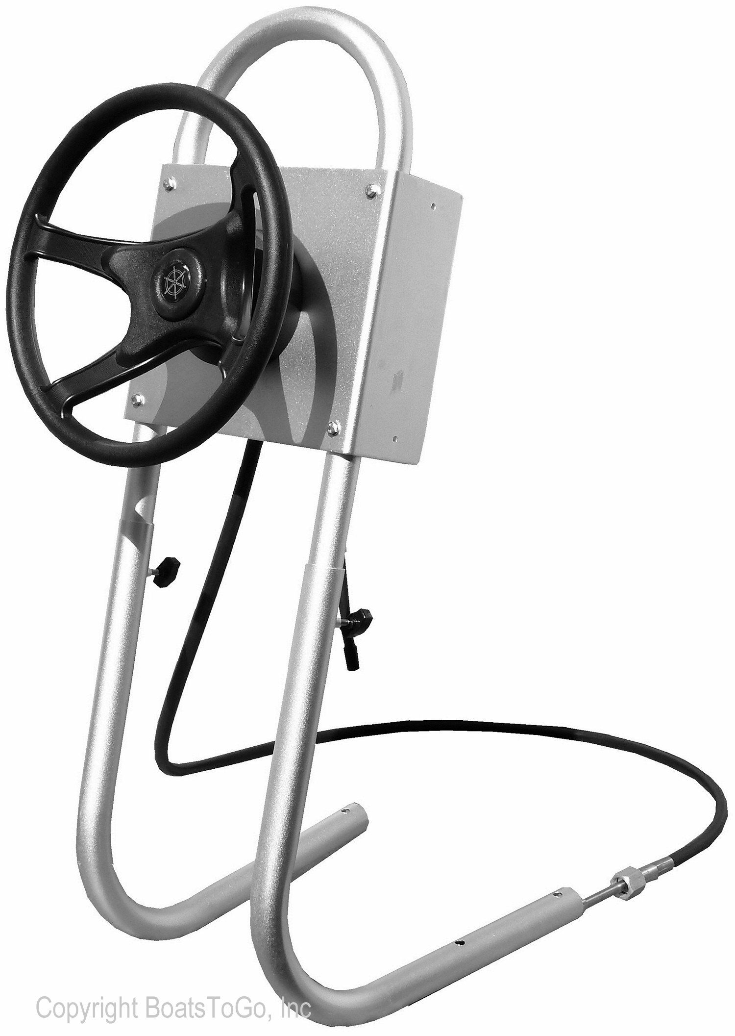 aluminium steering system for inflatable motor boats rib boats aluminium jon boats and small fiberglass boats helm calbe and wheel are included  [ 1500 x 2113 Pixel ]