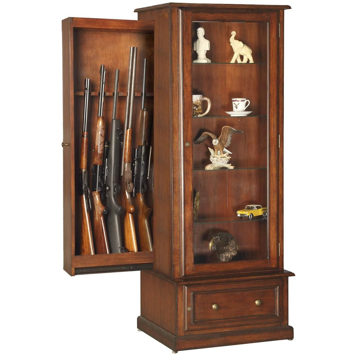 Hidden Gun Curio Cabinet | Concealment furniture | Pinterest ...