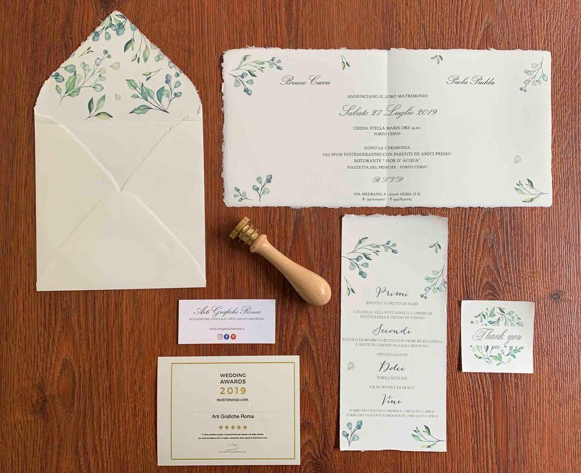 Partecipazioni Matrimonio In Carta Amalfi Partecipazioni Nozze Nozze Matrimonio Carta