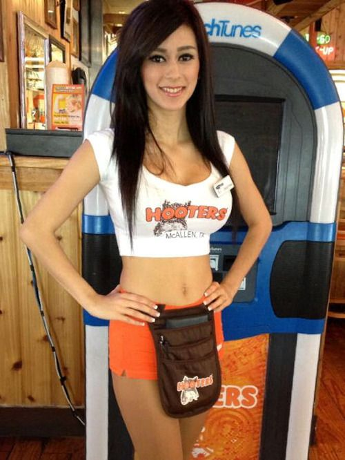 Hooters nude girl on girls seems