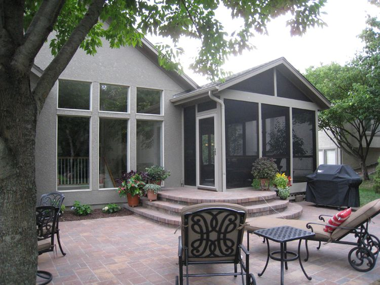 patio off of screened in porch - Google Search | home | Pinterest ...
