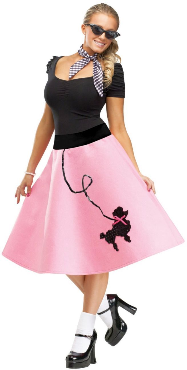Poodle Skirt Costume Adult 50s Outfit Halloween Fancy Dress
