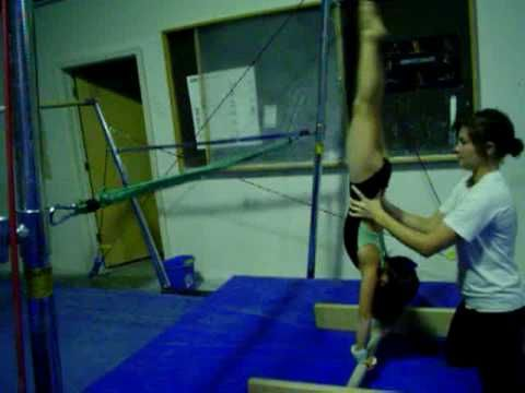 handstand trainer  for a while i just wrapped the bungee