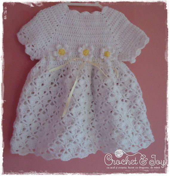 Crochet Baby Dress by CROCHETandJOY on Etsy, $40.00 | Etsy Crochet ...