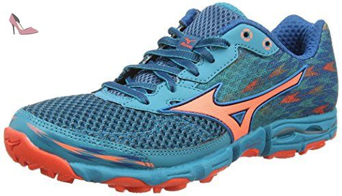 Wave Hayate 2 - Chaussures de Running Compétition - Femme - Turquoise (Capri Breeze/Fiery Coral/Blue Sapphire) - 36 1/2 EU (4 UK)Mizuno 1oQwiK