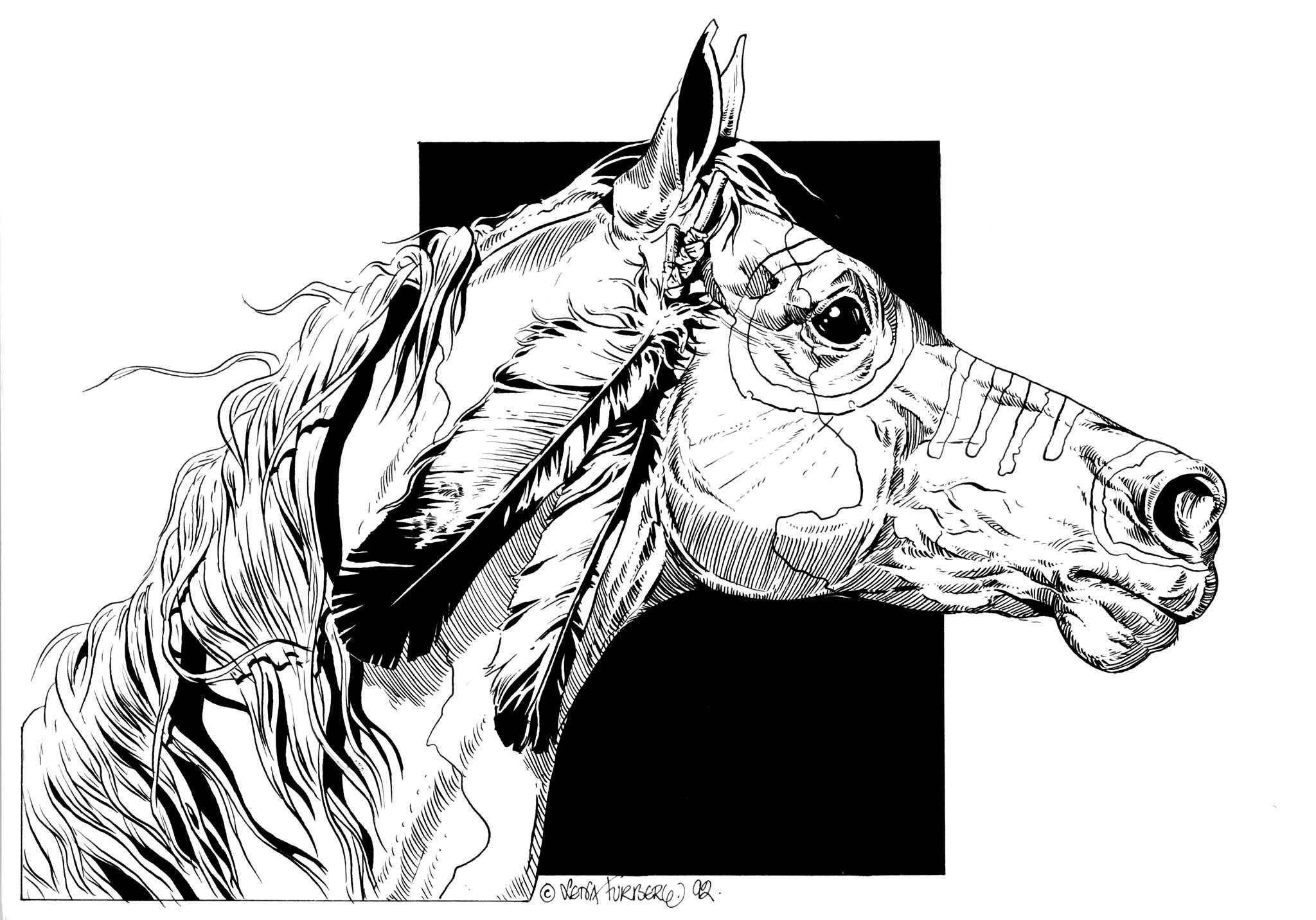Horse coloring page - Kids Portal For Parents | 1432x2048