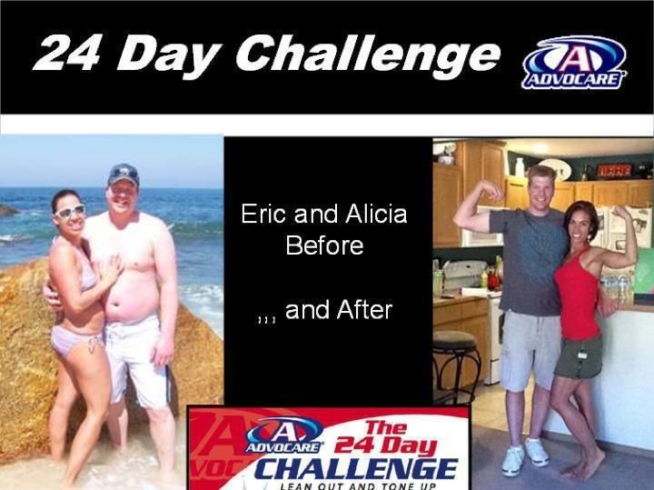 Eric and Alicia before and after the AdvoCare 24 Day ...