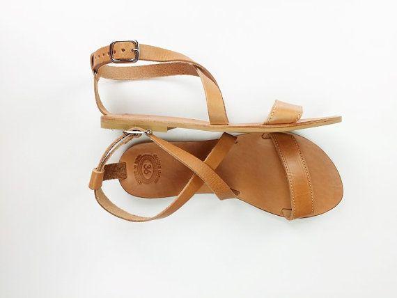 d1320ddfc Open Toe Greek Leather Sandals Women Handmade by Leatherhood