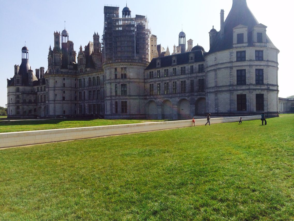 The front of Palace du Chambord, France