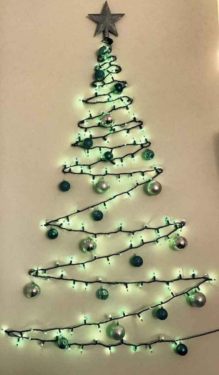 50 Awesome Christmas Lights Ideas Wall Christmas Tree Best Christmas Lights Small Christmas Trees