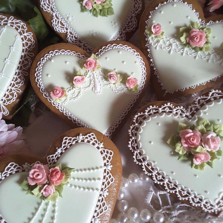 Heart cookies, gingerbread cookies, keepsake, bridal