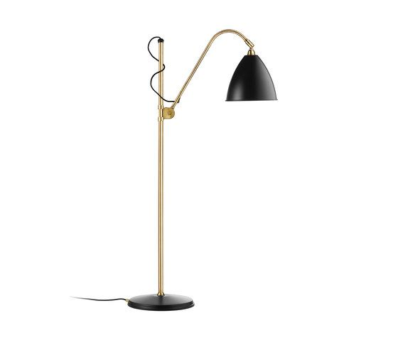 Bestlite floor lamp black and chrome by gubi