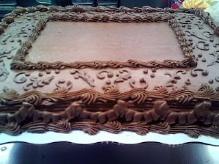 Chocolate Floral Buttercream Sheet Cake Birthday Sheet Cakes