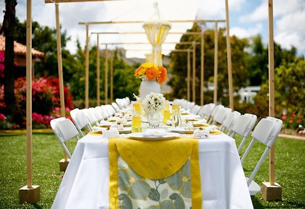 love yellow and gray Party Pinterest Outdoor parties