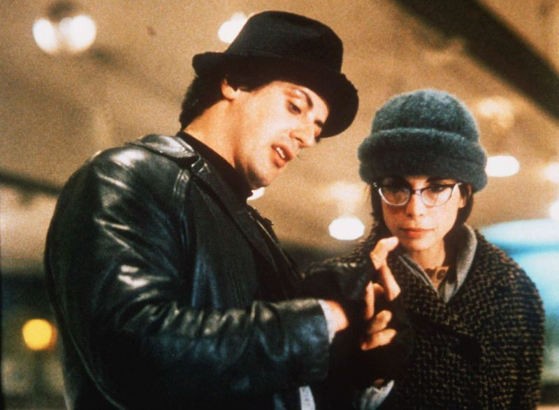 Sylvester Stallone and Talia Shire in Rocky 1976