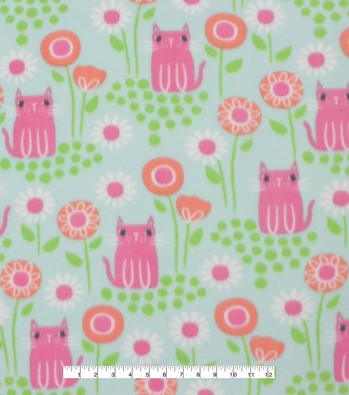 Blizzard fleece fabric pink kitties u bloom hedgie stuff