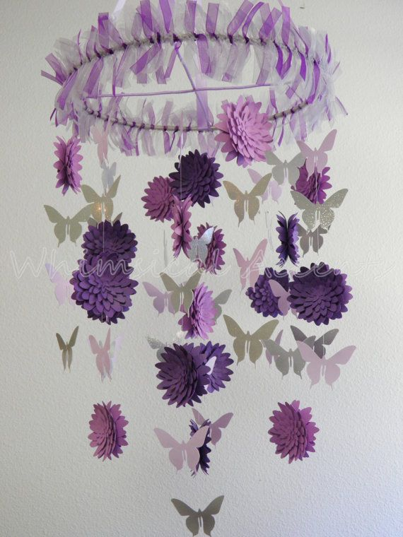 Dahlia And Erfly Paper Mobile By Whimsicalaccents On Etsy This Coordinates With The Pottery Barn