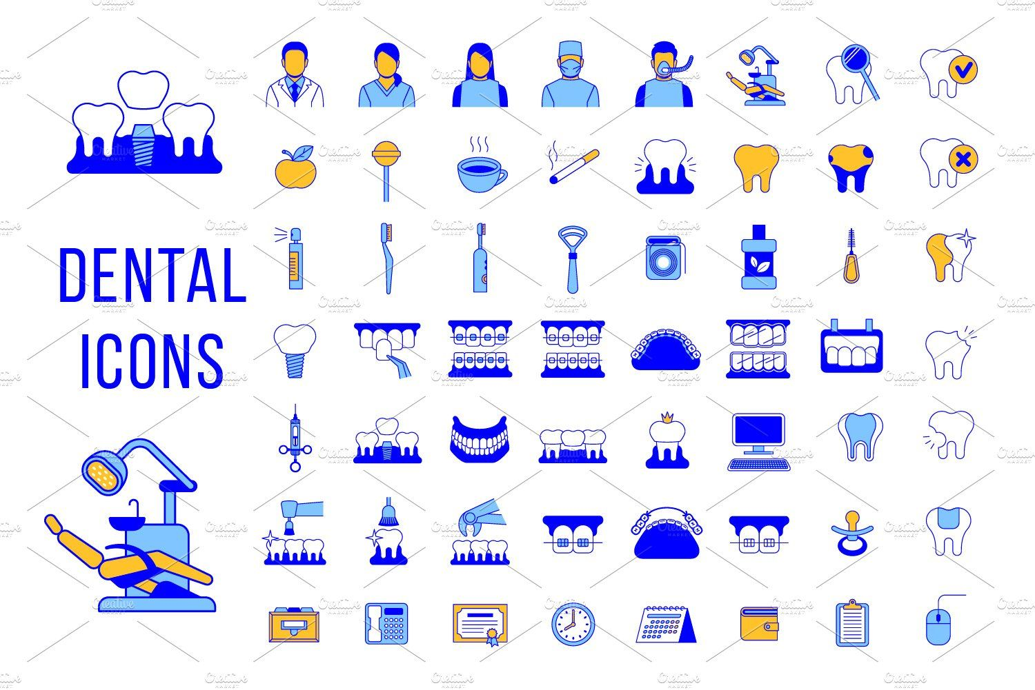 Dental Clinic Services Line Icons , Sponsored, patient