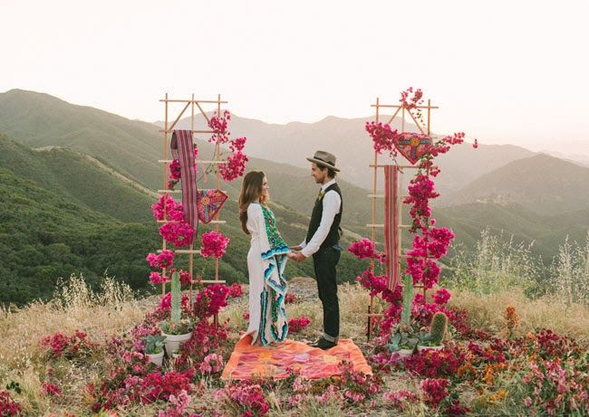 Bohemian Wedding Inspiration - I have no reason to pin wedding stuff but this is just beautiful.. Renewing vows in 20 years??
