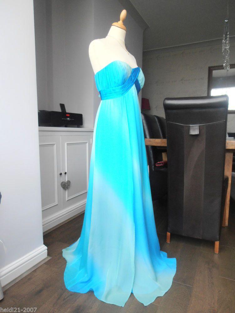 Monsoon bali silk blue dip dye long maxi evening wedding