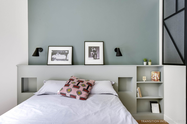 rénovation complète d'un appartement de 40 m2 dans paris, transition