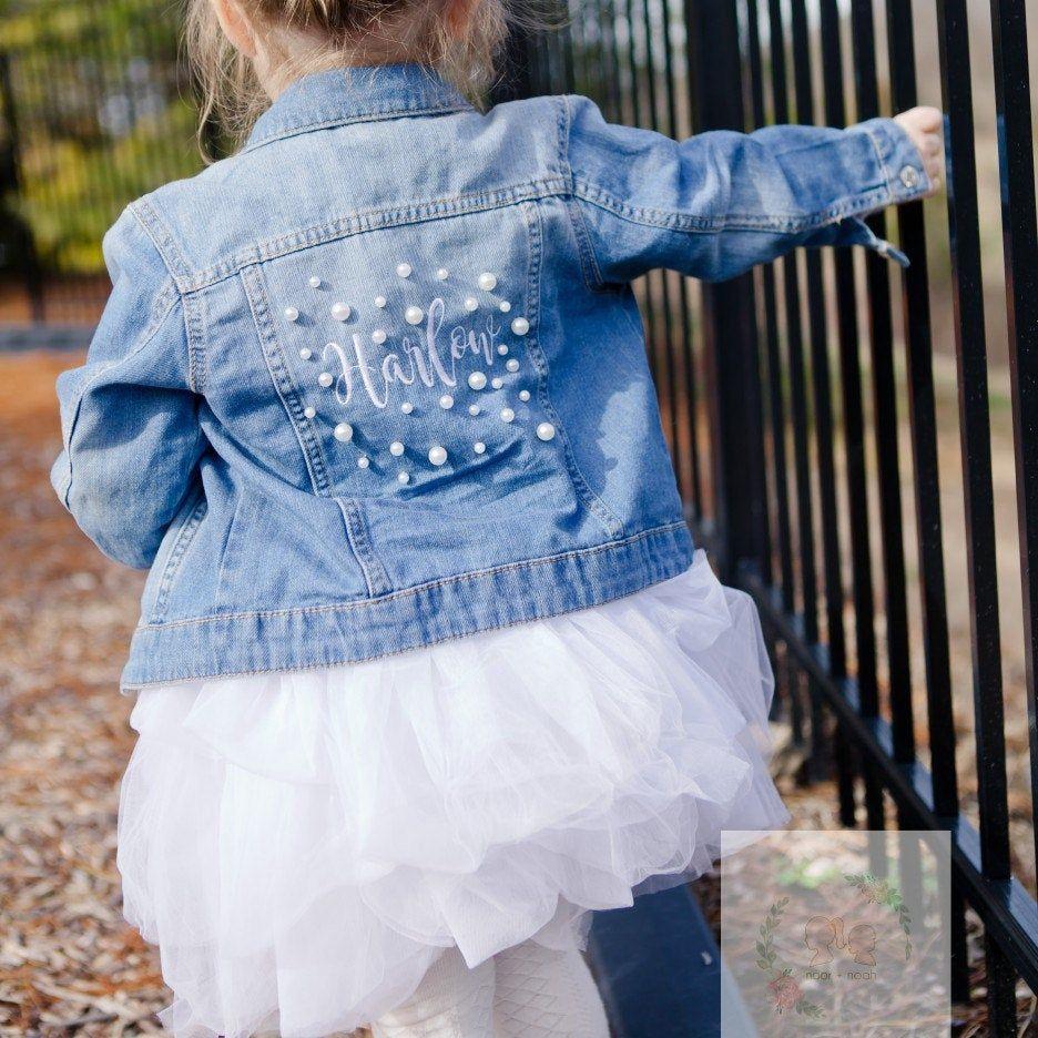 Harlow Rocking Her Pearl Denim Jacket Embroidered Denim Jacket Embroidered Denim Denim Jacket [ 936 x 936 Pixel ]