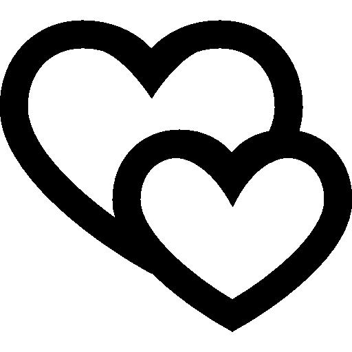 Hearts Free Vector Icons Designed By Freepik Instagram Highlight Icons Logo Sticker Black White Heart