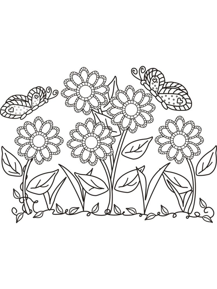 Flower Coloring Pages Pdf Colorful Flowers Flower Coloring Pages