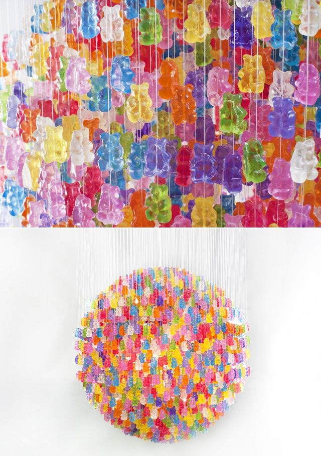 gummy bear chandelier! am i the only person who thinks of icarly