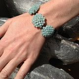 BRACELET in Hand-Woven Turquoise Bloom - New York States of Mind