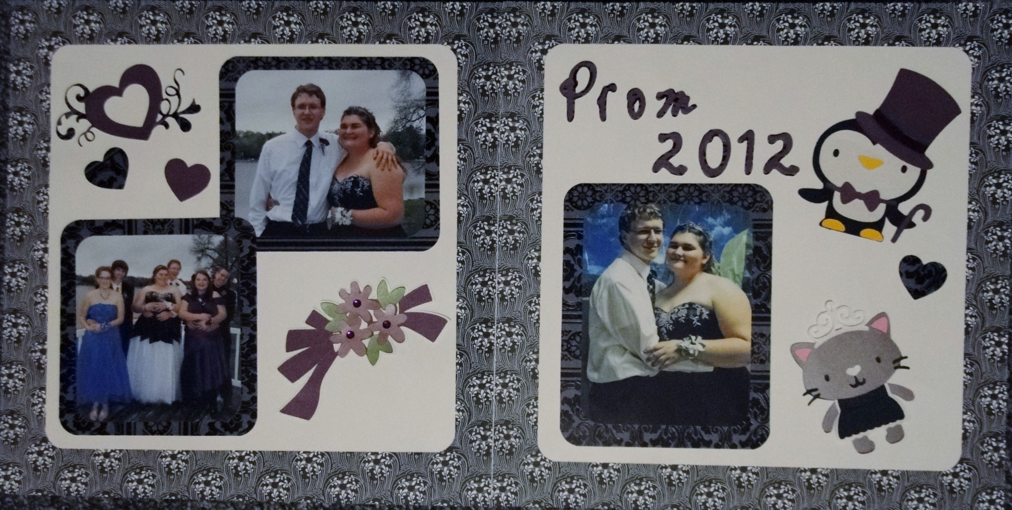 Scrapbook ideas using cricut - Scrapbook Prom Layout Using Cricut