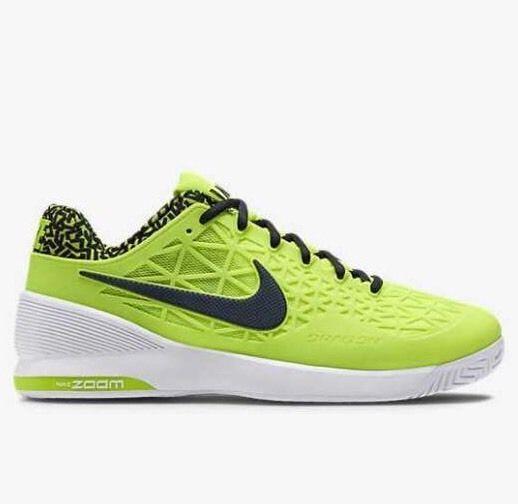 wholesale dealer 3af54 3ff39 Men Nike ZOOM CAGE 2 705247-701 Volt Black Tennis Federer Court Train