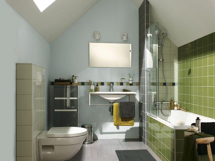 Aménager Une Salle De Bains Sous Les Toits Sous Les Toits Le - Travaux salle de bain leroy merlin