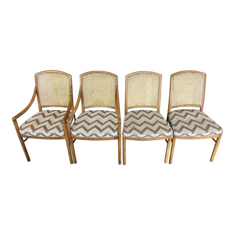 Drexel Heritage Cane Back Dining Chairs