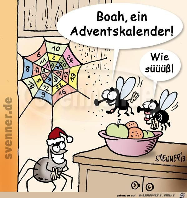 Lustiges Bild Adventskalender Jpg Eine Von 3175 Dateien In Der Kategorie Cartoons Comics Auf Funpot Funny Pictures Christmas Jokes Funny