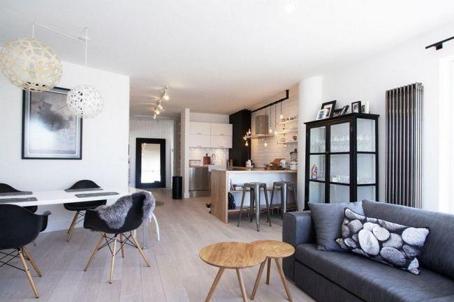 Appartement scandinave avec des touches industrielles