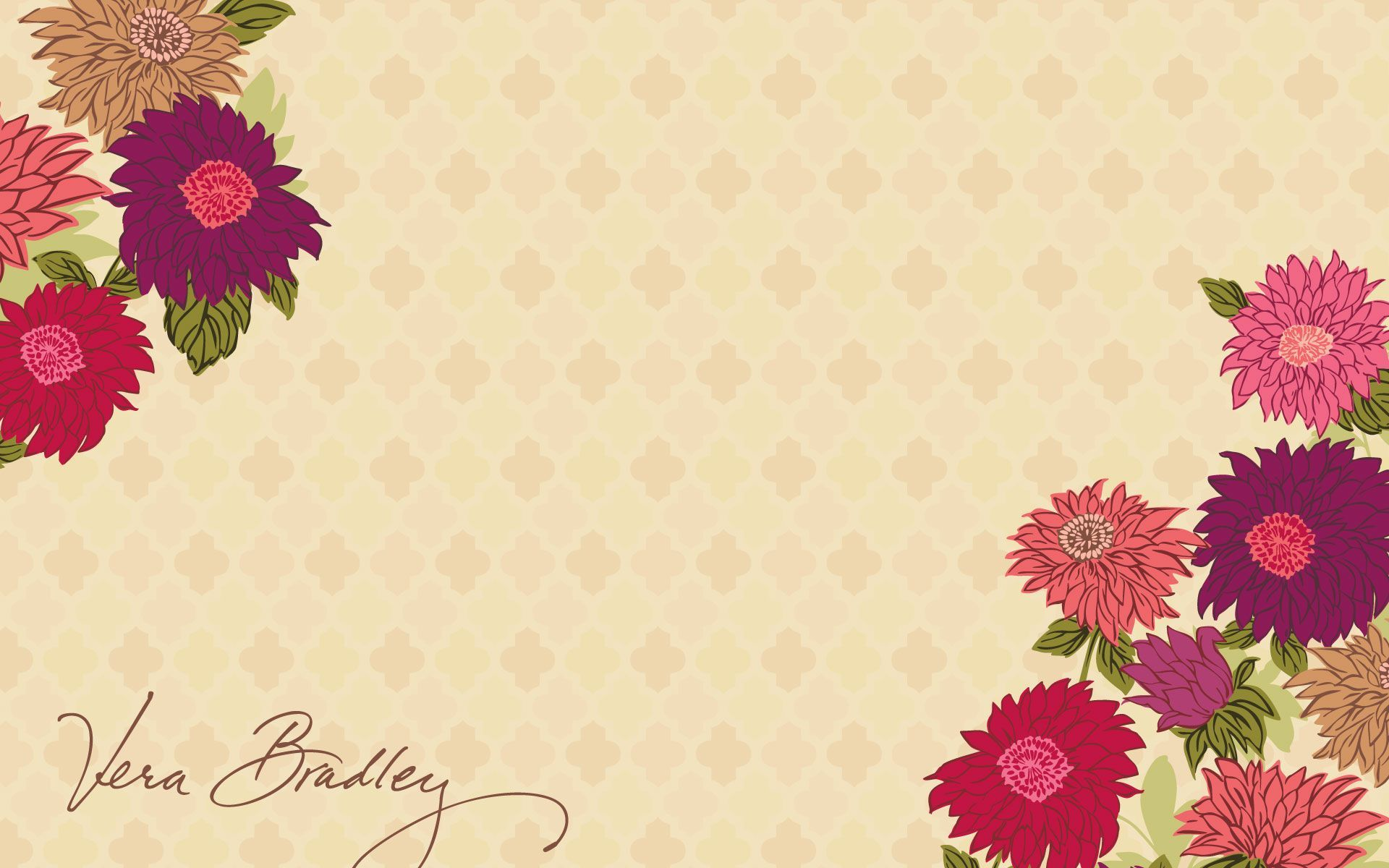 vera bradley hello dahlia desktop wallpaper