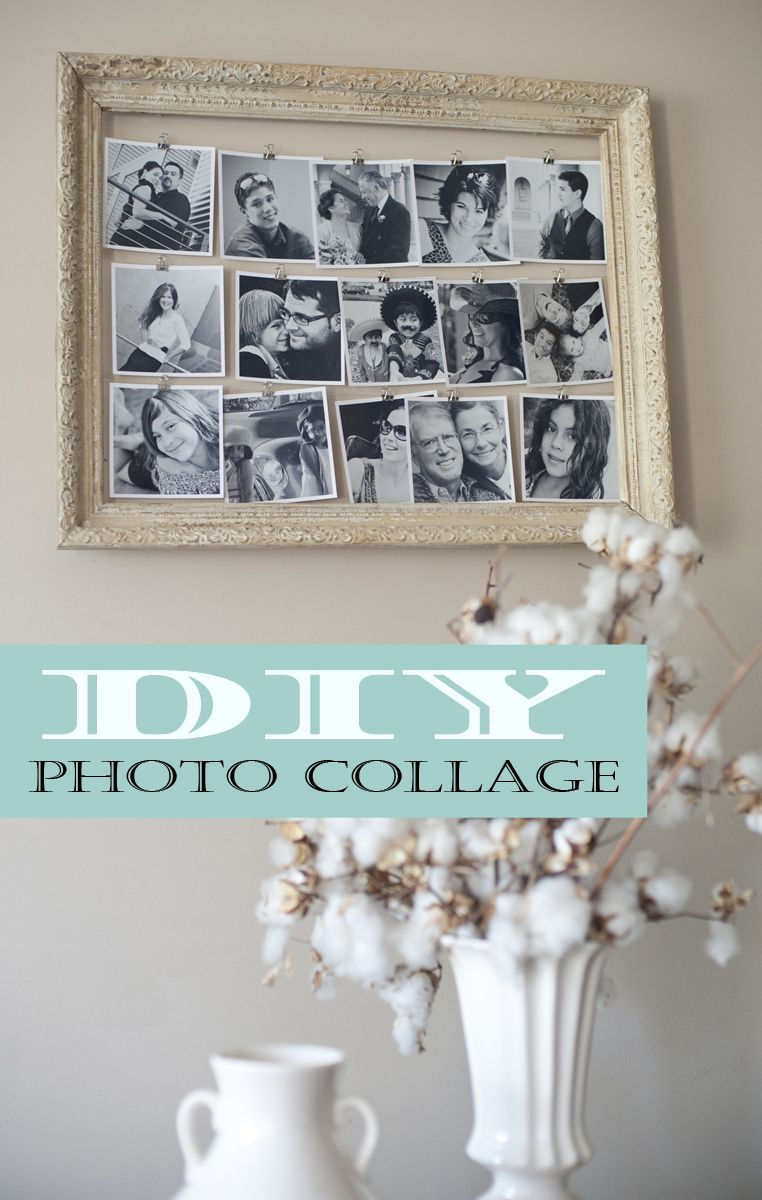 Diy photo collage of family photos by joanna joy