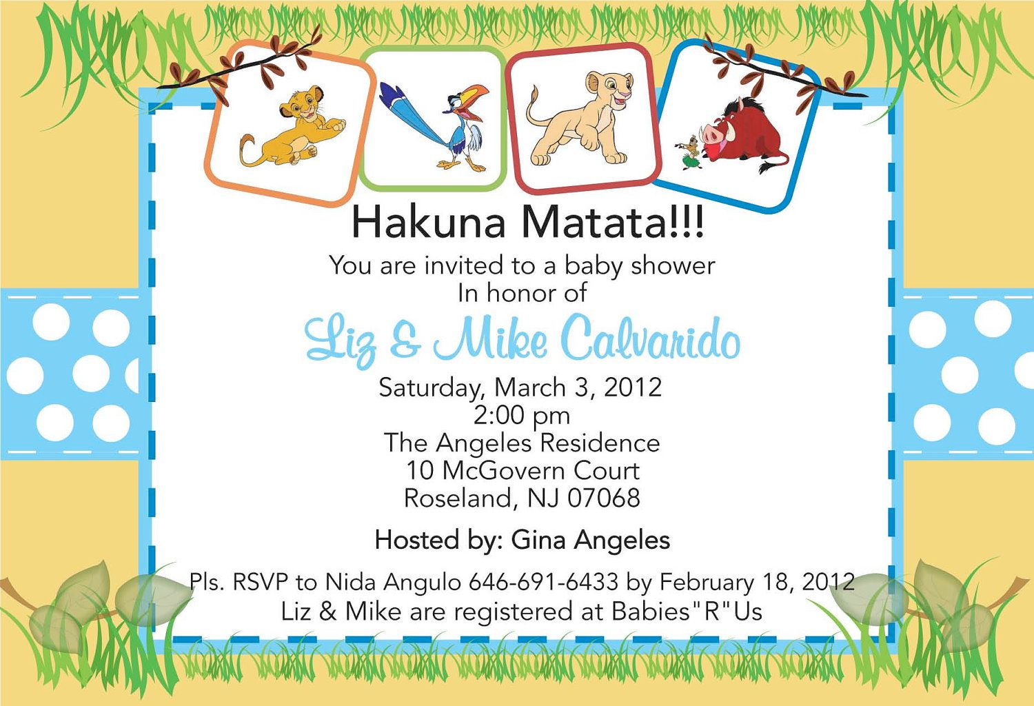 Printable Monkey & Jungle Animals Baby Shower Invitation | Lion king ...